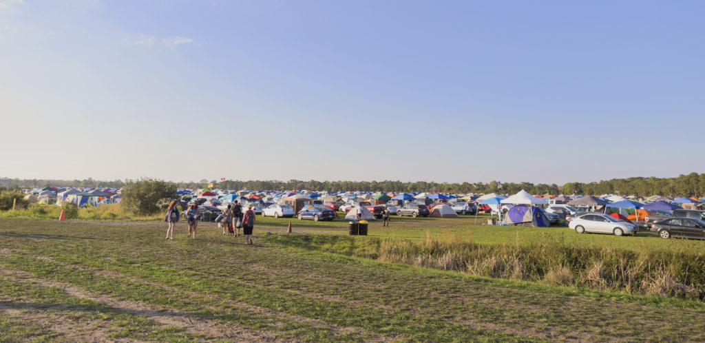 Camp Sites at Okeechobee Music & Arts Festival 2016