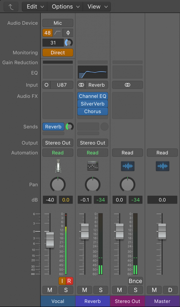 Logic Pro X Direct Monitoring